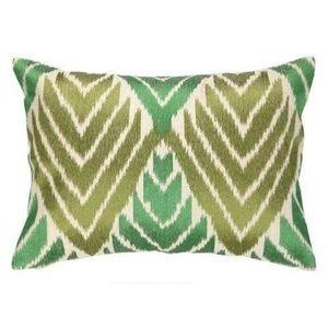 Green Embroidered Designer Decorative Pillow